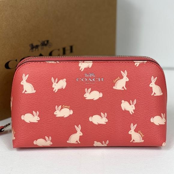 Coach Handbags - NWT Coach Cosmetic Case with Bunny Print